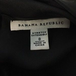 Banana Republic Tops - Banana Republic Black Silky Scoop back 3/4 sleeve